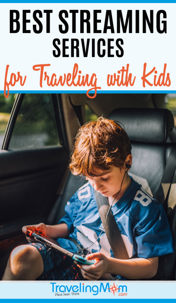 Keeping kids busy during long flights and road trips has become easier with streaming services to a tablet or laptop. Find out which entertainment option is best for traveling with kids including Disney's new service, Disney+ and which streaming services work outside of the United States. #TMOM #FamilyTravel #TravelwithKids | TravelingMom