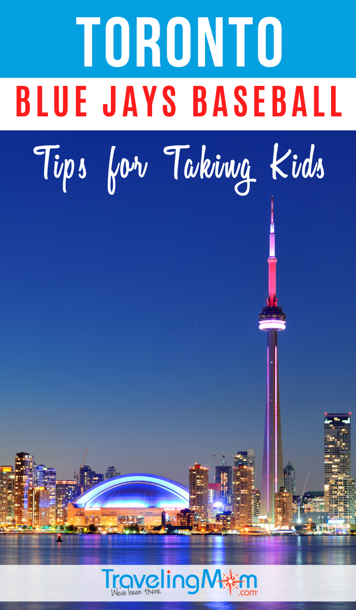Plan a trip to the Rogers Centre baseball stadium in Toronto for a Blue Jays game. These are the tips for taking kids to a ballgame in Canada. #TMOM #Baseball #Stadiums | TravelingMom | Sports Travel