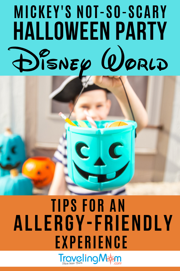 Mickey's Not So Scary Halloween Party at Disney World offers special treats for families with food allergies. Get the details on how to have an allergy-friendly experience at this popular fall event at Magic Kingdom. #TMOM #DisneyWorld #DisneyHalloween #HalloweenParty #Allergies | TravelingMom