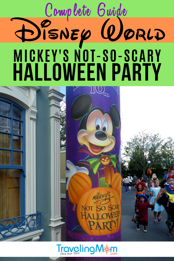 Is the Disney World hard-ticket special event, Mickey's Not So Scary Halloween party worth the added cost? This complete guide outlines all the details with Disney tips on best dates to go, how to deal with crowds, and party highlights. #TMOM #Halloween #HalloweenParty #MNSSHP #DisneyWorld | TravelingMom | Fall Travel
