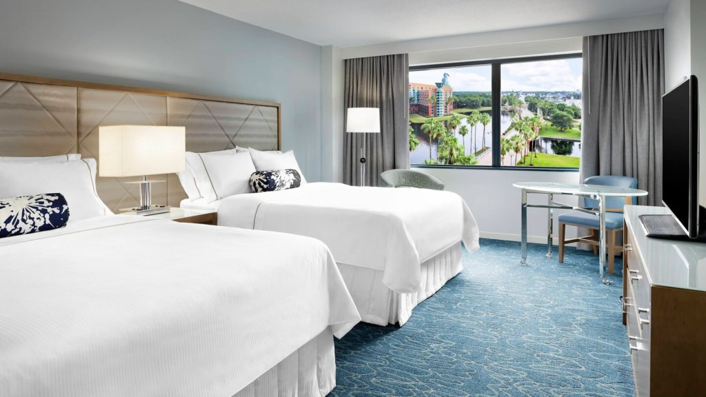 Room at the Swan and Dolphin, off property Disney hotels