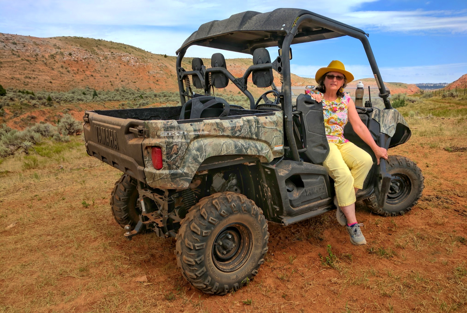 Add more wild to your Wild West vacation - Side by Side vehicle offered to guests at Red Reflet Ranch.