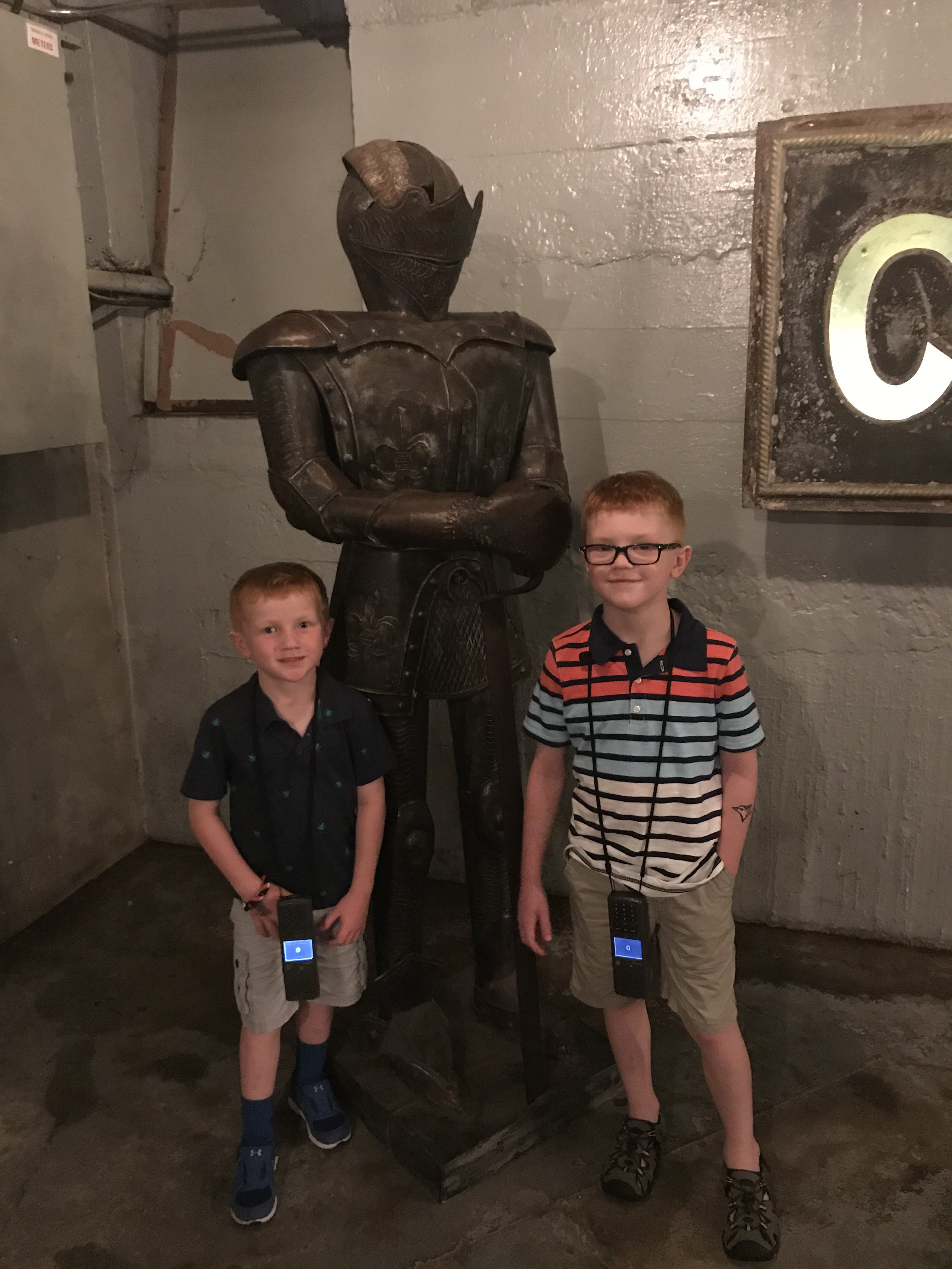 Suit of armor at Casa Loma in Toronto