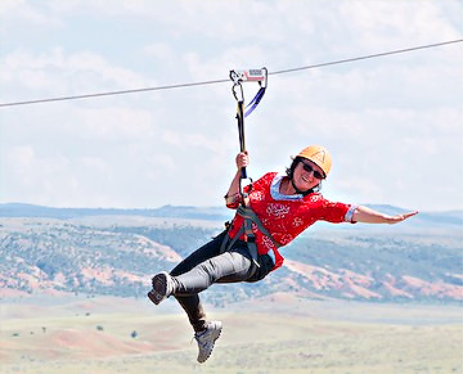 Wild West vacation in Red Reflet ranch include ziplining!