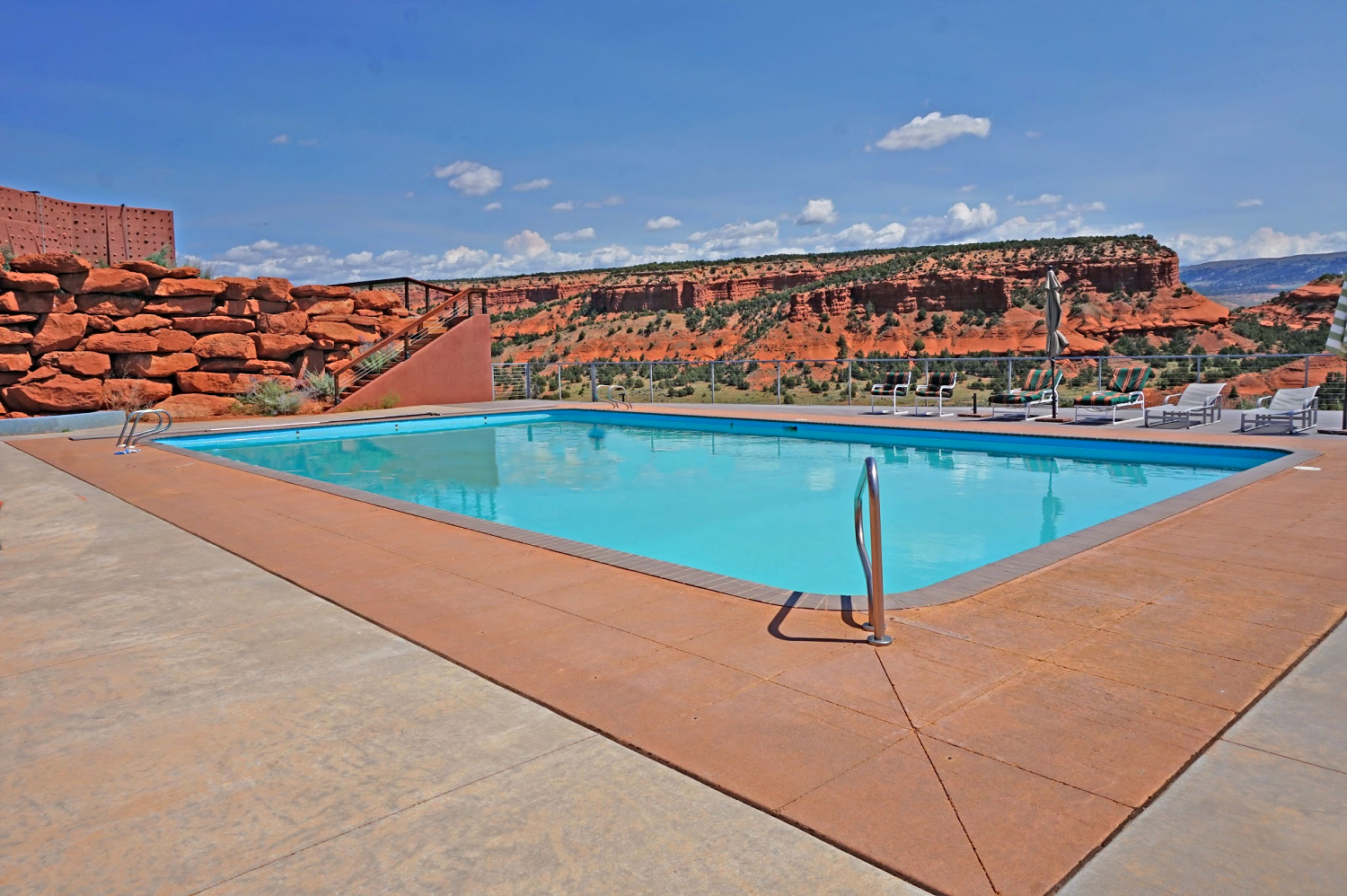 Wild West vacation in style. An outdoor pool at Red Reflet Ranch in Wyoming.