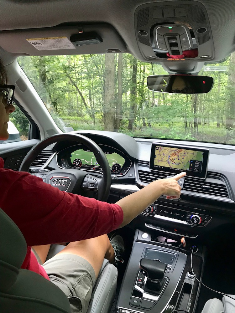 Older drivers find reassurance pinpointing directions with new car tech.