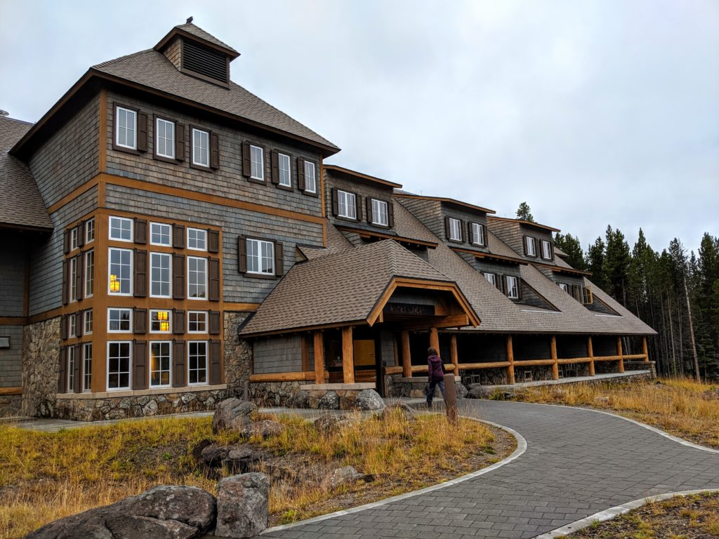 Canyon Lodge facade, a Yellowstone lodging option
