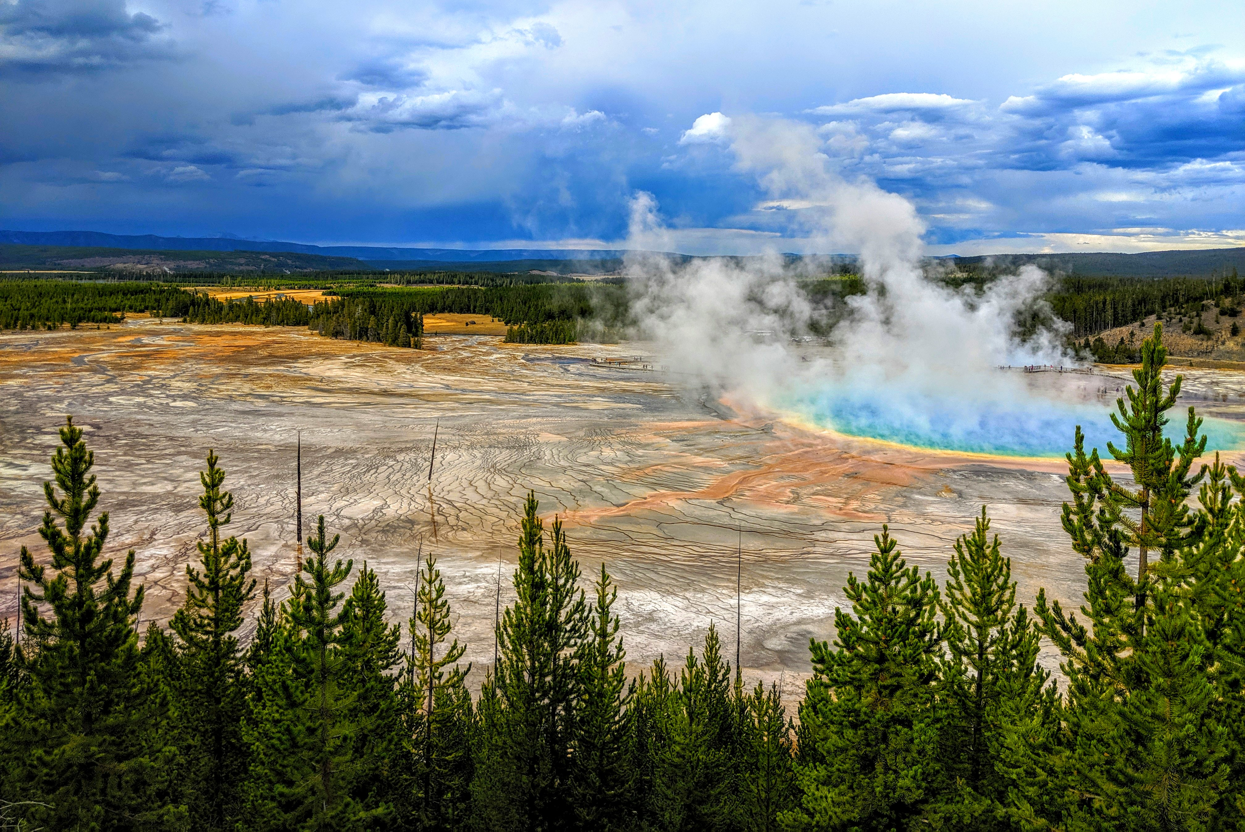 Grand Prismatic Spring at Yellowstone, one of the best US National Parks