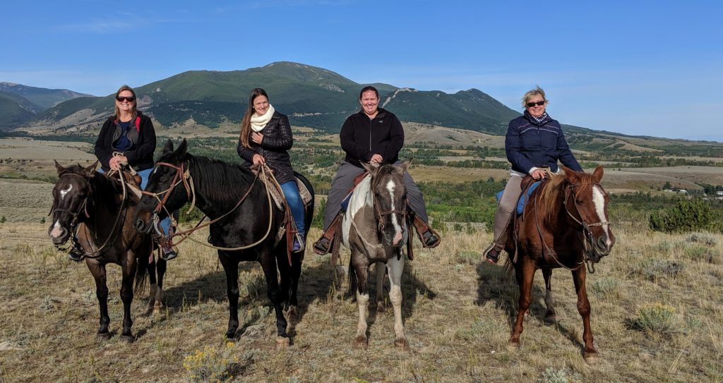 Horsebacking riding in Red Lodge, Montana.