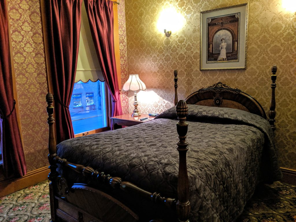 A room at the Irma Hotel, Cody, WY.