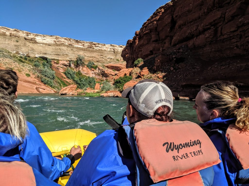 Rafting on the Shoshone River with Wymoning River Trips.