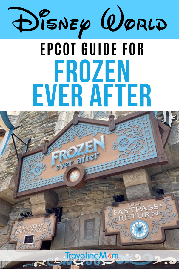 Frozen Ever After at Walt Disney World Epcot remains one of the most popular rides. Get all the details on the Disney Princesses Anna and Elsa's adventure with tips for how to avoid the long lines. #TMOM #Disney #DisneyWorld #Frozen | TravelingMom | Disney Princess | Travel with Kids | Theme Park | Family Travel