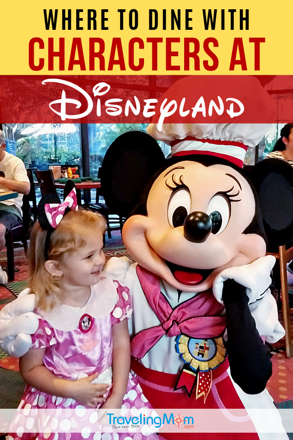 Find out the details of all the character meals at Disneyland including where to find princesses, what special foods to look for on the buffet and of course, tips for maximizing prices and time with your Disney favorite characters! #TMOM #Disney #Disneyland #DisneyTips #CharacterDining | TravelingMom | Restaurants | Disney Dining | Character Dining