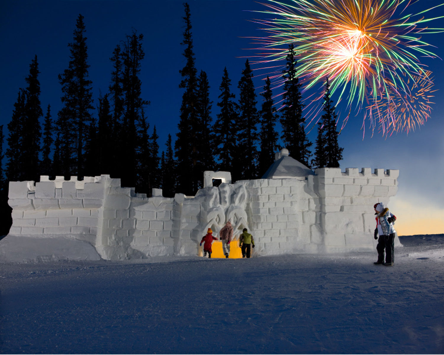 The world's largest snow fort at Keystone Resort, Colorado.