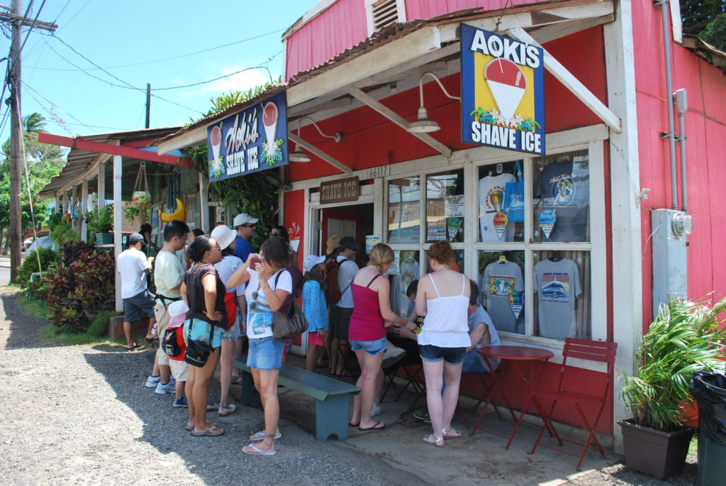 shave ice is a must on oahu