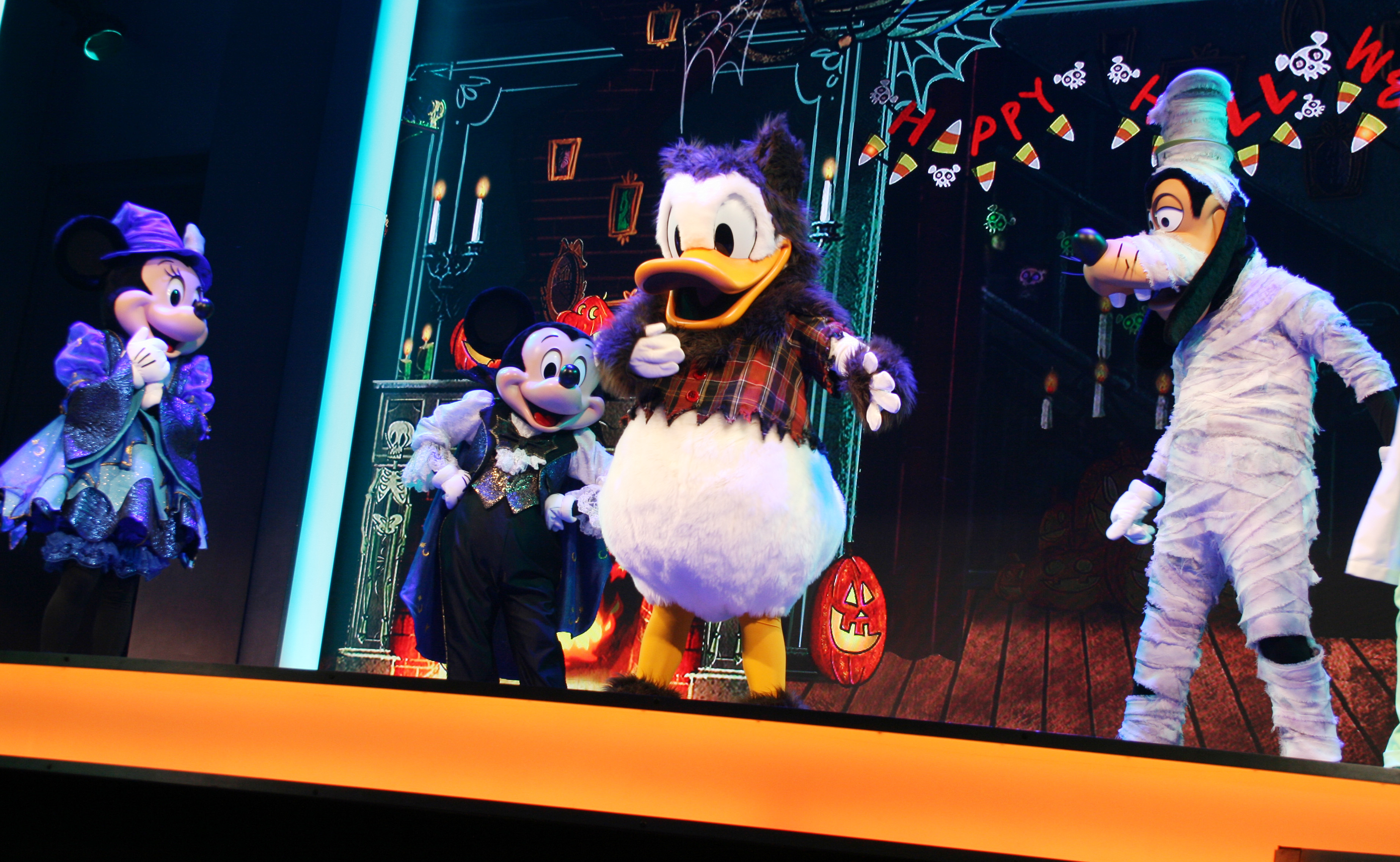 Characters at Mickey's Trick and Treat Show
