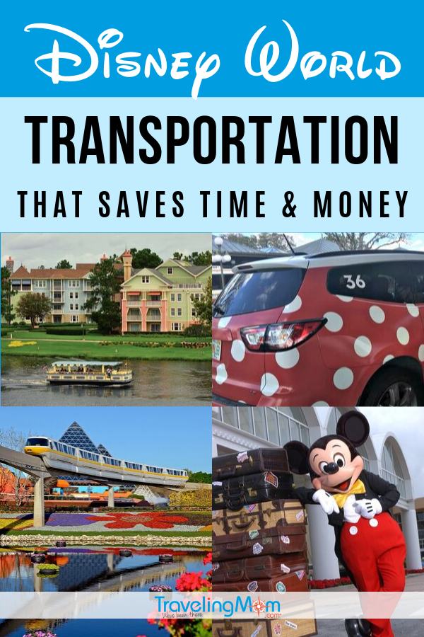 From buses to boats and monorails to Minnie Vans, transportation at Walt Disney World can be confusing! This guide to all the transportation options at Disney World will help you save time and money including Orlando airport transportation, Magical Express, ride sharing and how to efficiently get to and from the parks with kids. #TMOM #Disney #DisneyTips #WDW #DisneyWorld | TravelingMom