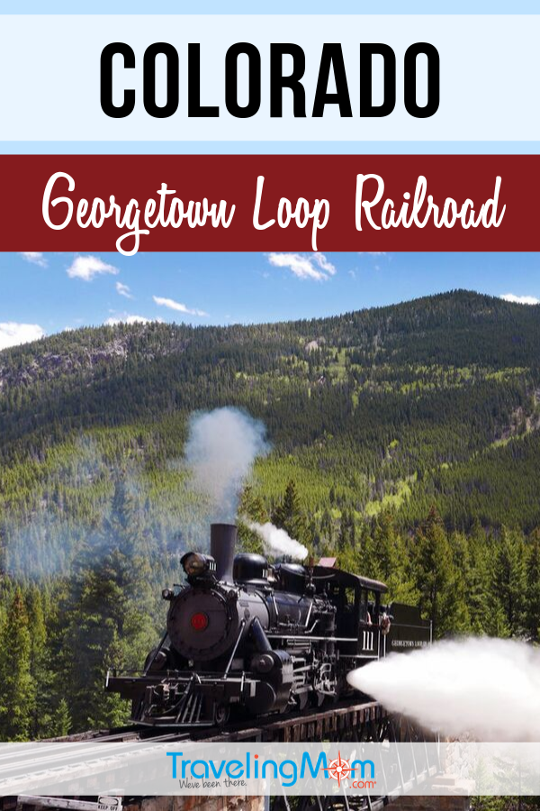 The Georgetown Loop Railroad in Colorado is year-round family fun, especially for train fans! Find out what there is for kids including special events, mine train tours and family travel tips. #TMOM #Railroad #Trains #Colorado | TravelingMom