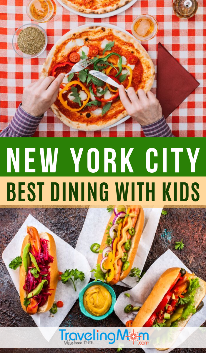 Looking for the best kid-friendly restaurants in New York City? Get the scoop on great places to dine with kids in NYC around popular attractions, including budget-friendly options. #TMOM #NewYork #NYC #Restaurants | TravelingMom | Eating Out | Travel with Kids | Family Travel