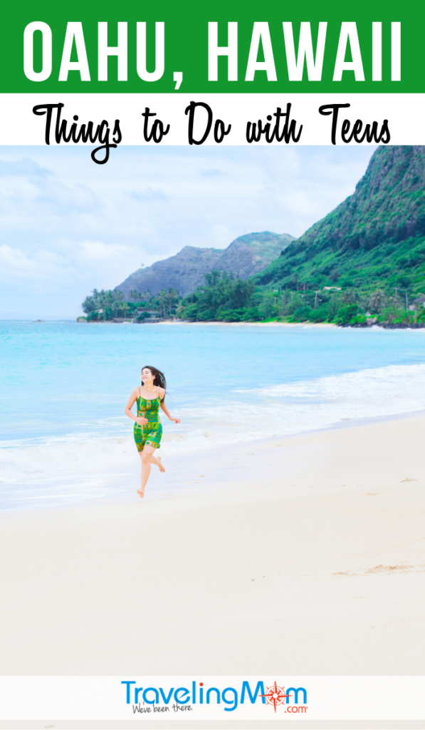 From North Shore to Honolulu, Oahu is a Hawaiian delight for teenagers. Find out all the fun things to do with teens in Oahu, Hawaii including snorkeling, sailing, Pearl Harbor, outdoor activities, where to eat and stay. #TMOM #Hawaii #Teens #Oahu | TravelingMom | Travel with Teens | Family Travel | Island Vacation
