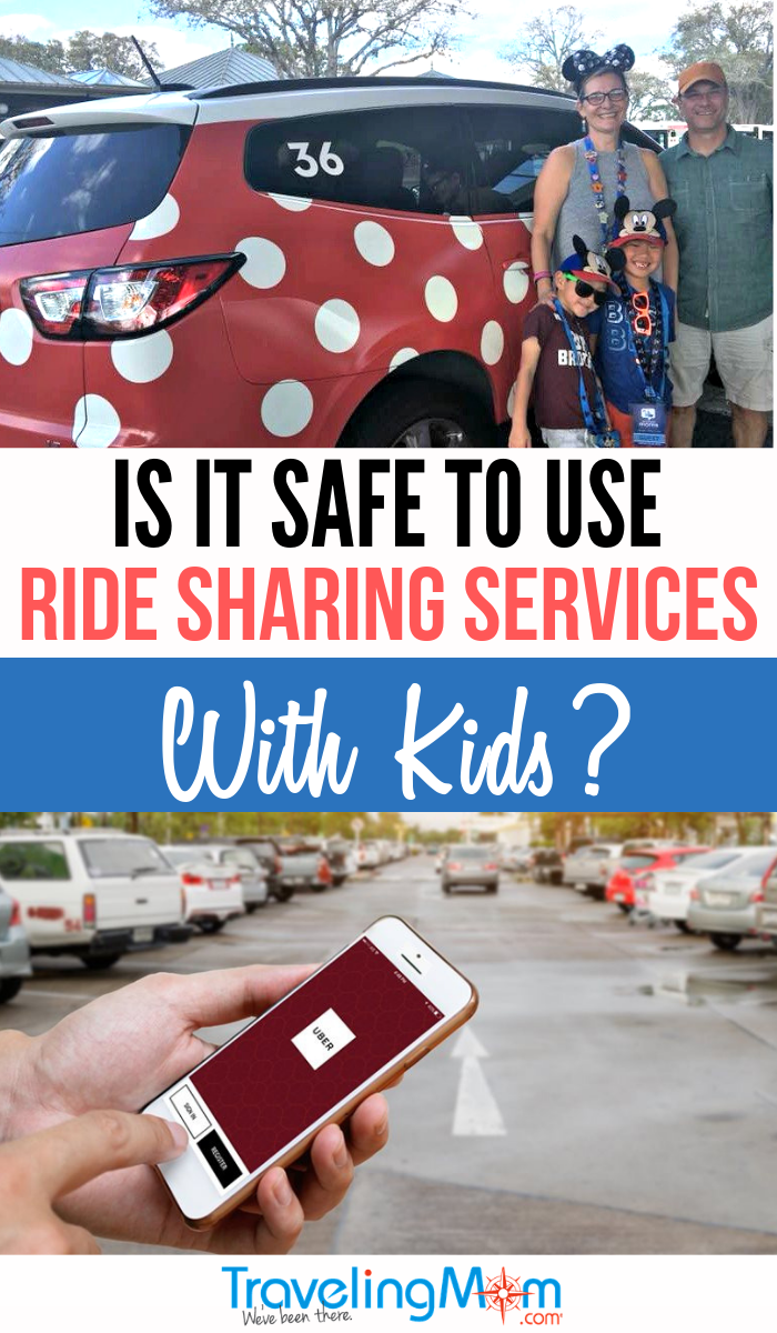 You're familiar with using Uber and Lyft but are these ride-sharing services safe to use for your family? Avoid the car rental on your next family vacation and get on board with ridesharing! Get the details on car seats, vehicle size and airport pickup. #TMOM #RideShare #Uber #Lyft #FamilyTravel | TravelingMom | Travel with Kids | Transportation Tips