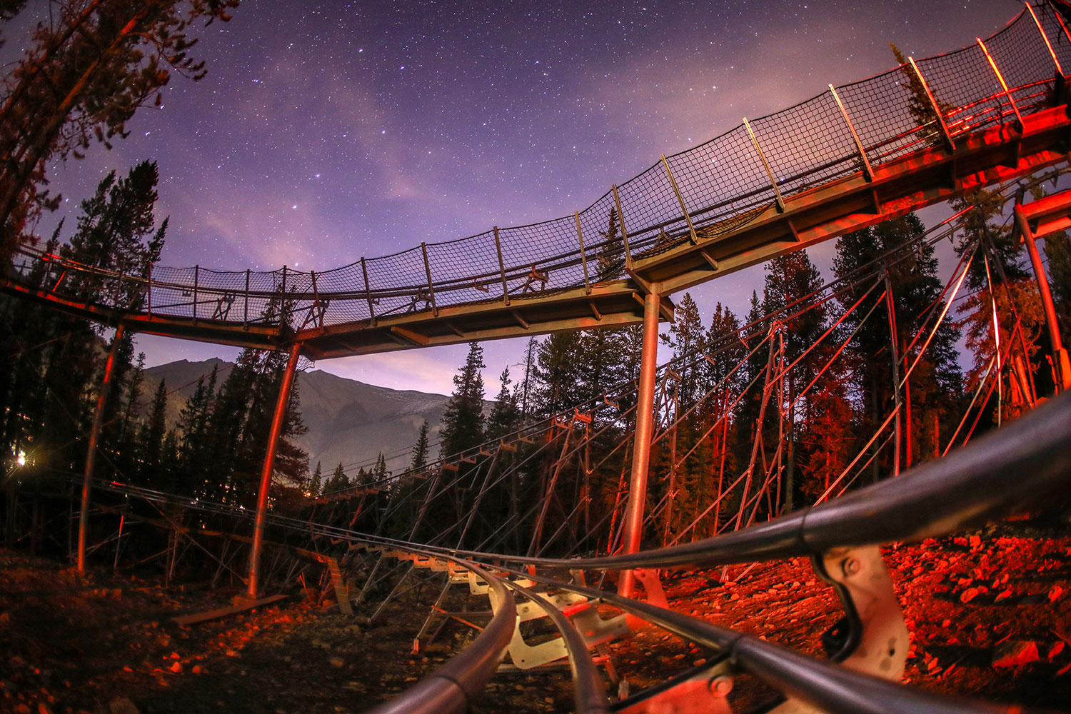 Rocky Mountain Coaster at Copper Mountain at night
