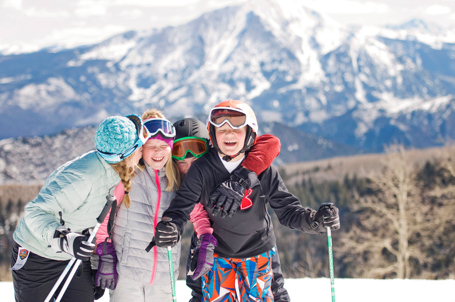 smiling family at Sunlight Mountain one of the best ski resorts in the US