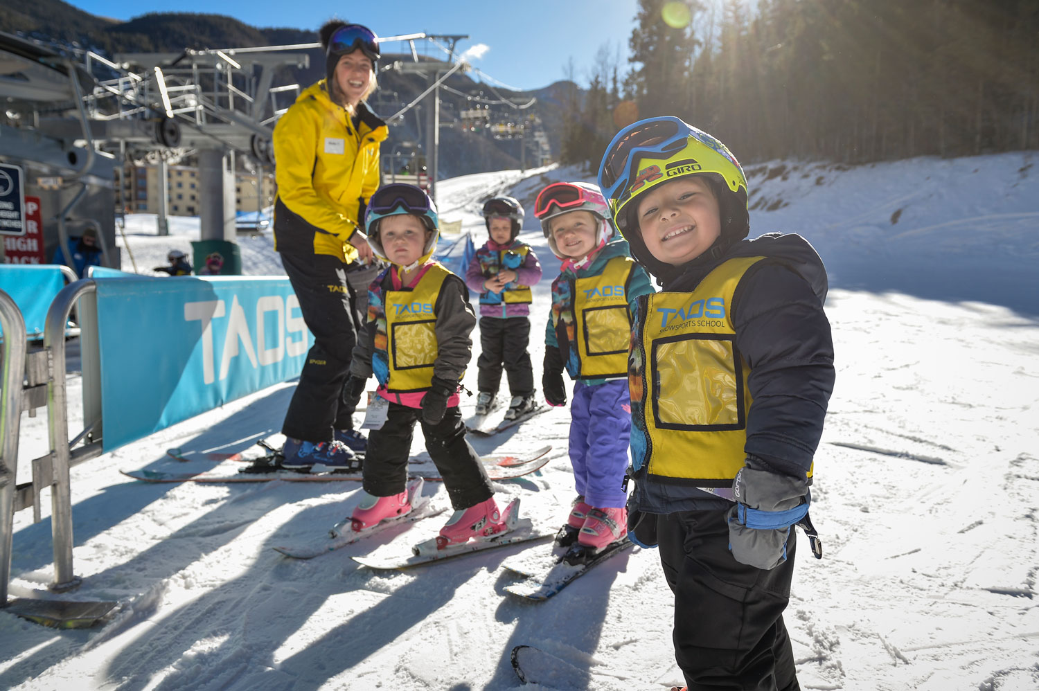 kids at Rio Honda Learning Center at Toas, one of the best ski resorts in the US