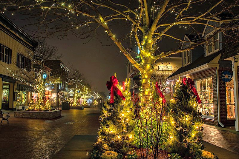 cape may New Jersey holiday Christmas village setting
