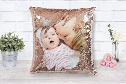Custom photo pillow makes a great gift for women.