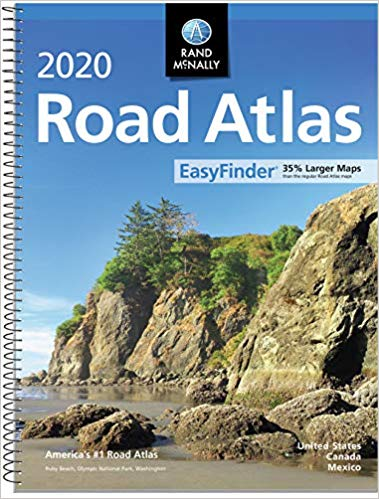 A spiral-bound road atlas makes a great gift for women.