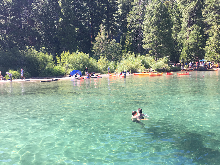 things to do in South Lake Tahoe - swimming in Emerald Bay State Park