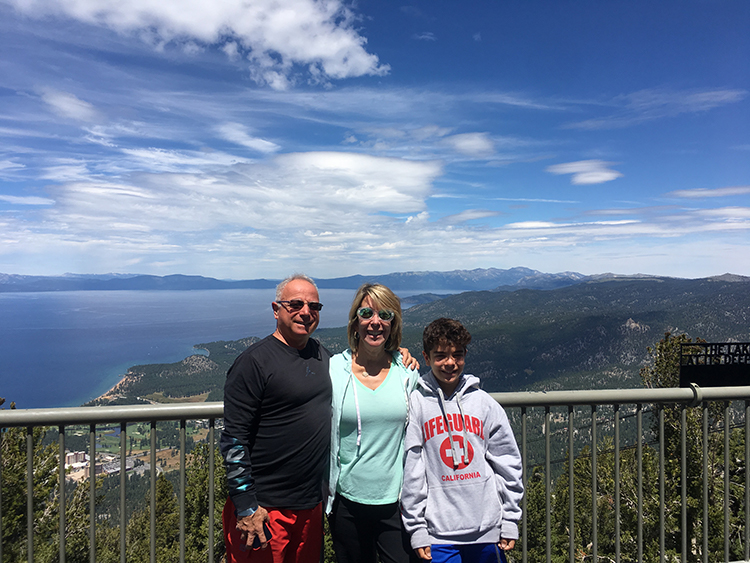 Taking a family photo op at the top of the Heavenly Village gondola is one of many things to do in South Lake Tahoe.