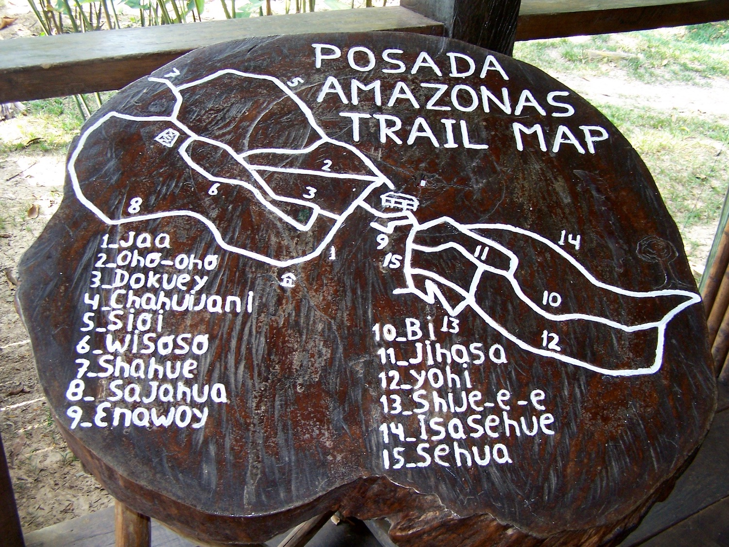 Sustainable tourism might mean hiking trails marked on boulders in the jungle.