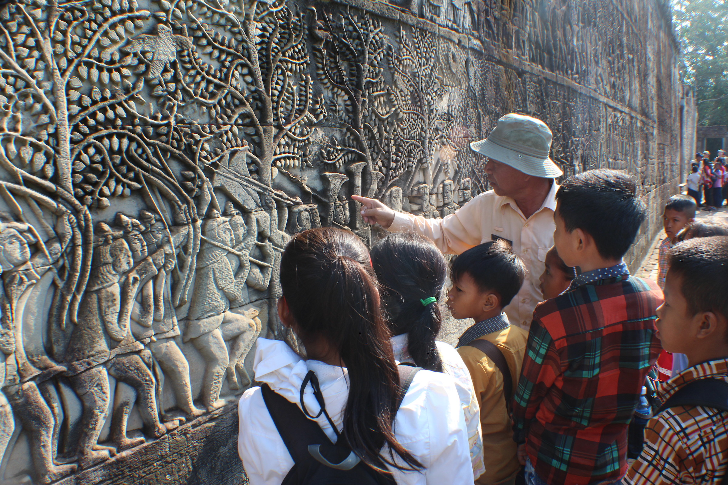 Sustainable tourism lets local kids experience tourist sistes in their own culture.