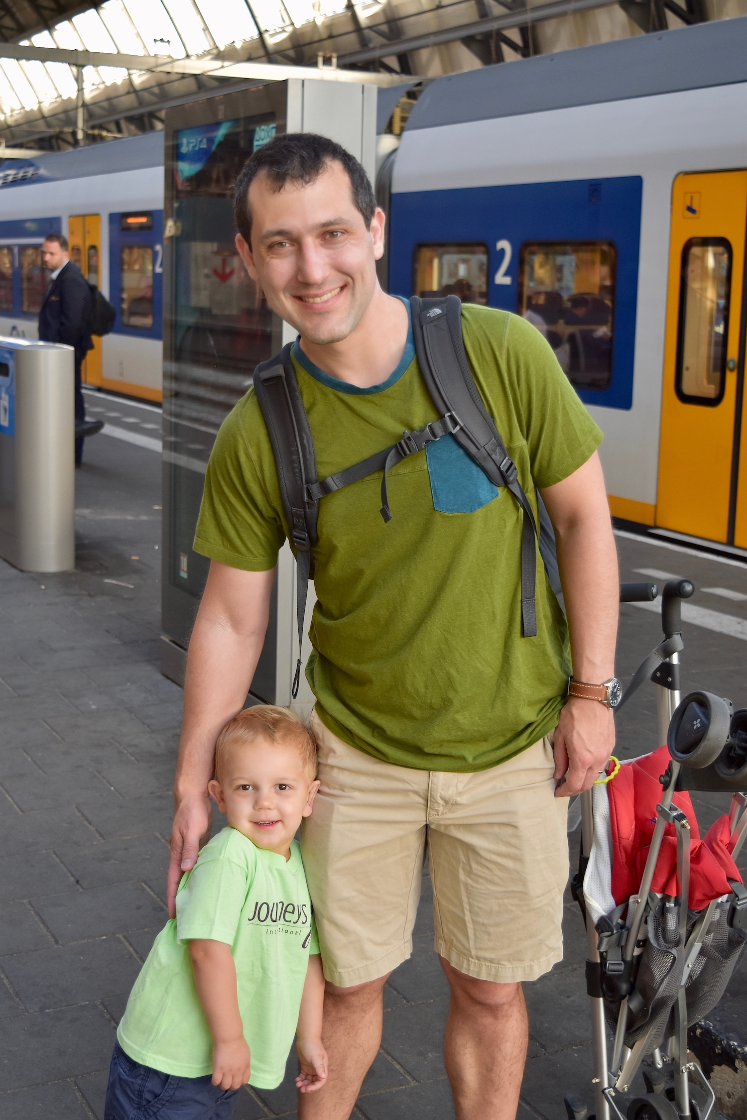 Sustainable tourism includes teaching the kids to use public transportation.