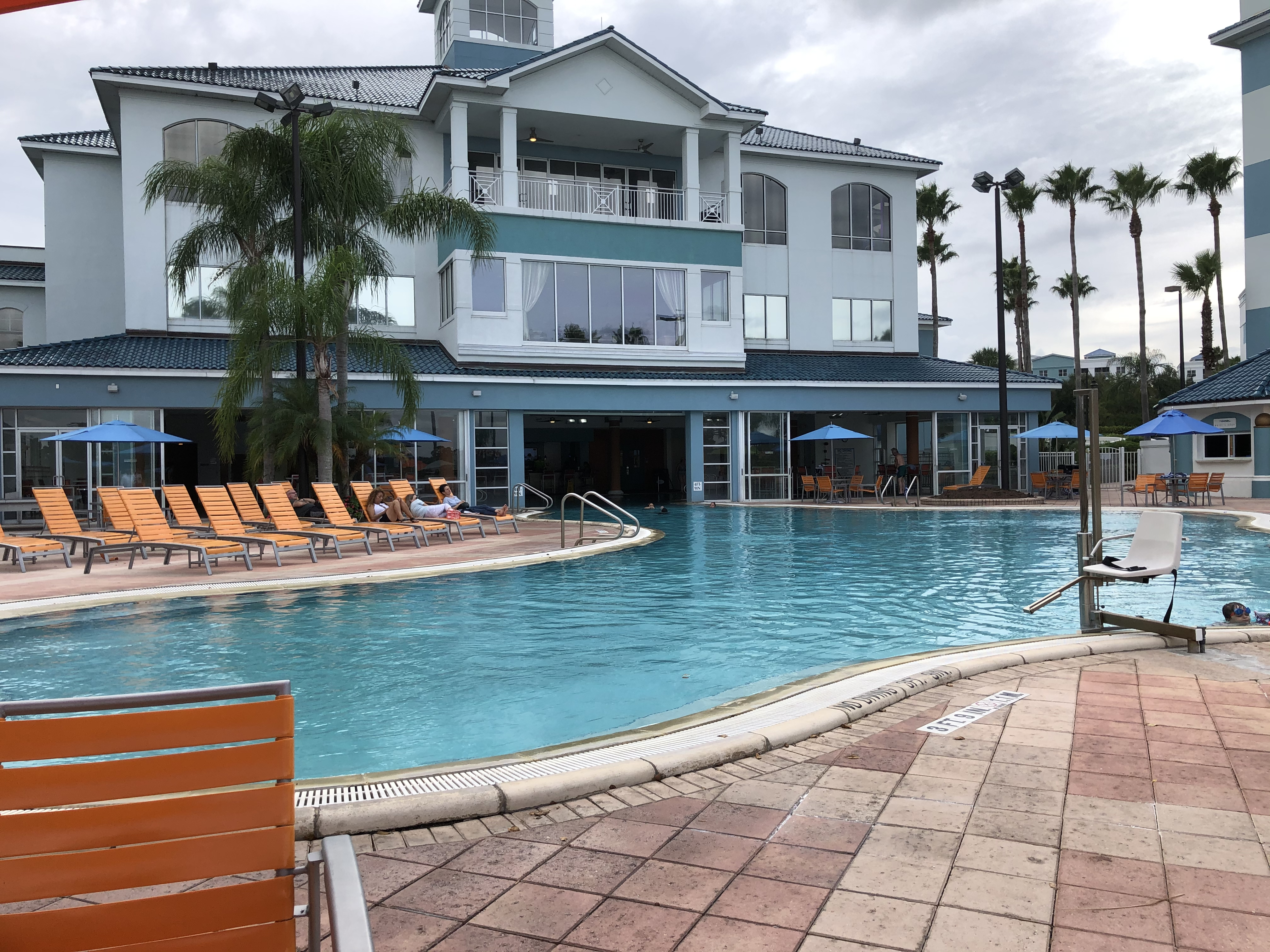 indoor outdoor pool at The Fountains Orlando