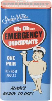 tin of emergency underpants