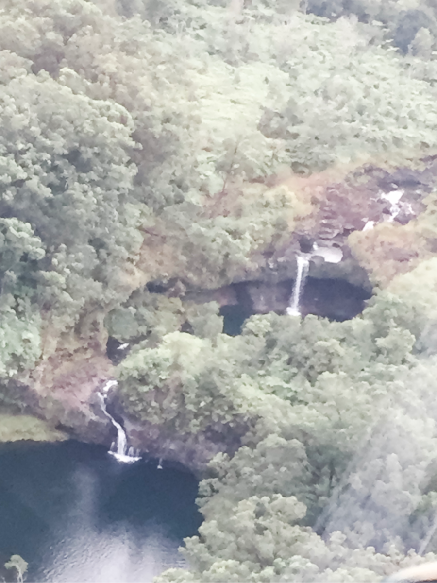Seeing waterfalls from Big Island helicopter tours