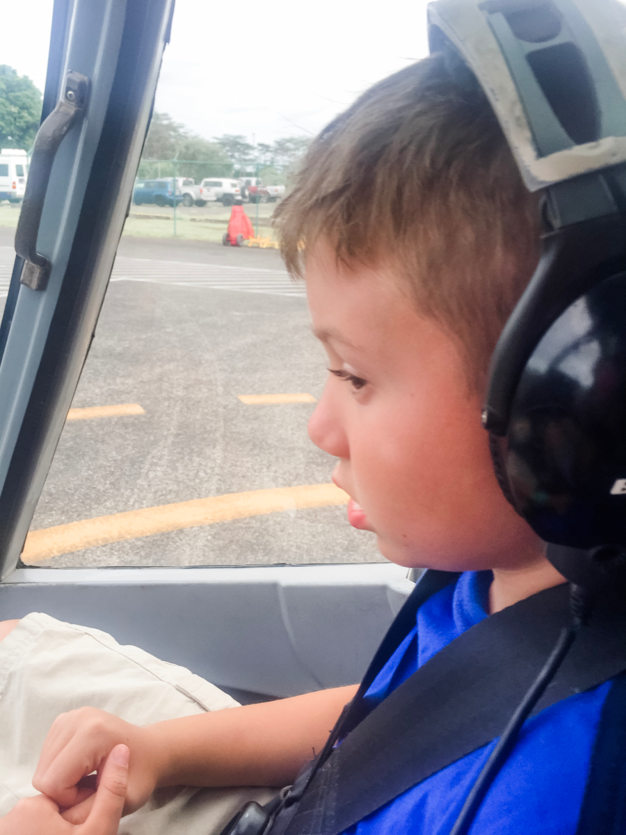 Kids love Big Island helicopter tours.