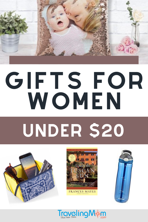 Shopping for the woman in your life doesn't have to break the bank with these awesome gifts for women under $20. She'll love the personal and practical gifts you choose off this gift guide. #TMOM #Gifts #Shopping #GiftGuide #HolidayGifts #GiftsforWomen | TravelingMom