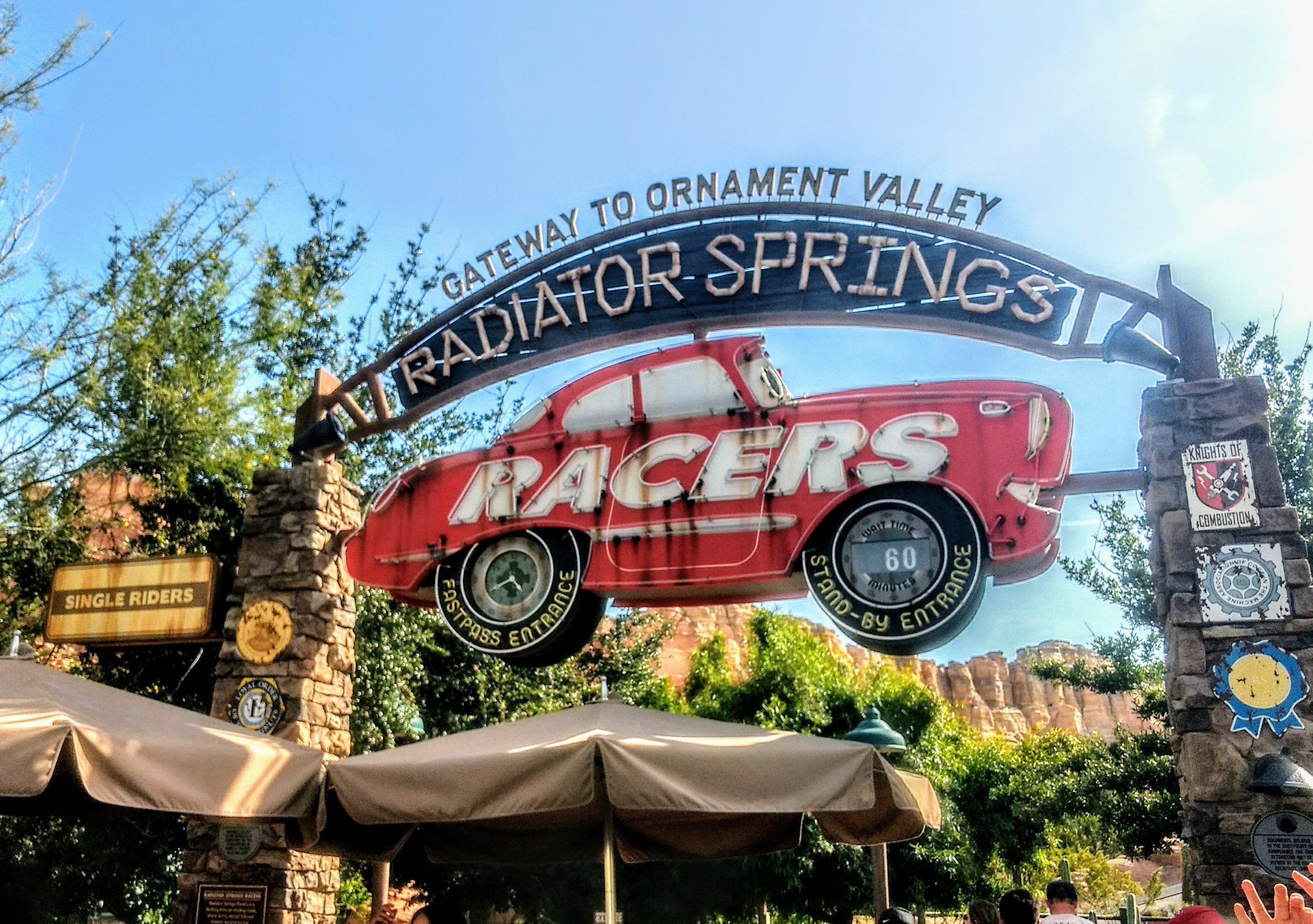 Stand-by for Radiator Springs Racers is 60 minutes, Disneyland MaxPass will cut that wait time down to 5-10 minutes.