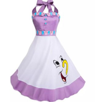 """Gifts for Disney lovers"""" Mrs. Pots and Chip apron."""