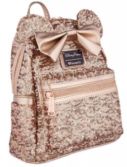 Gifts for Disney lovers: Minnie Mouse sequined backpack.