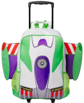 Gifts for Disney loving kids: Buzz Lightyear rolling backpack