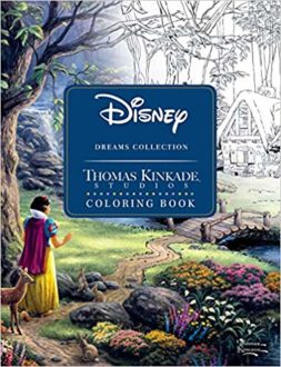 "Gifts for Disney lovers"" Thomas Kincade Disney coloring book"