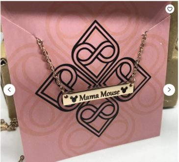 Gifts for Dsiney lovers: Mama Mouse necklace