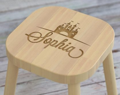 Gifts for Disney loving kids -- personalized stool