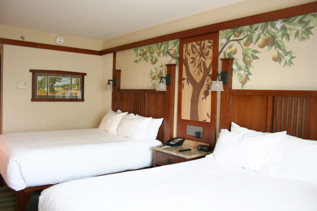 Bedroom at Disney's Grand Californian Hotel, a decision made easier with a travel checklist