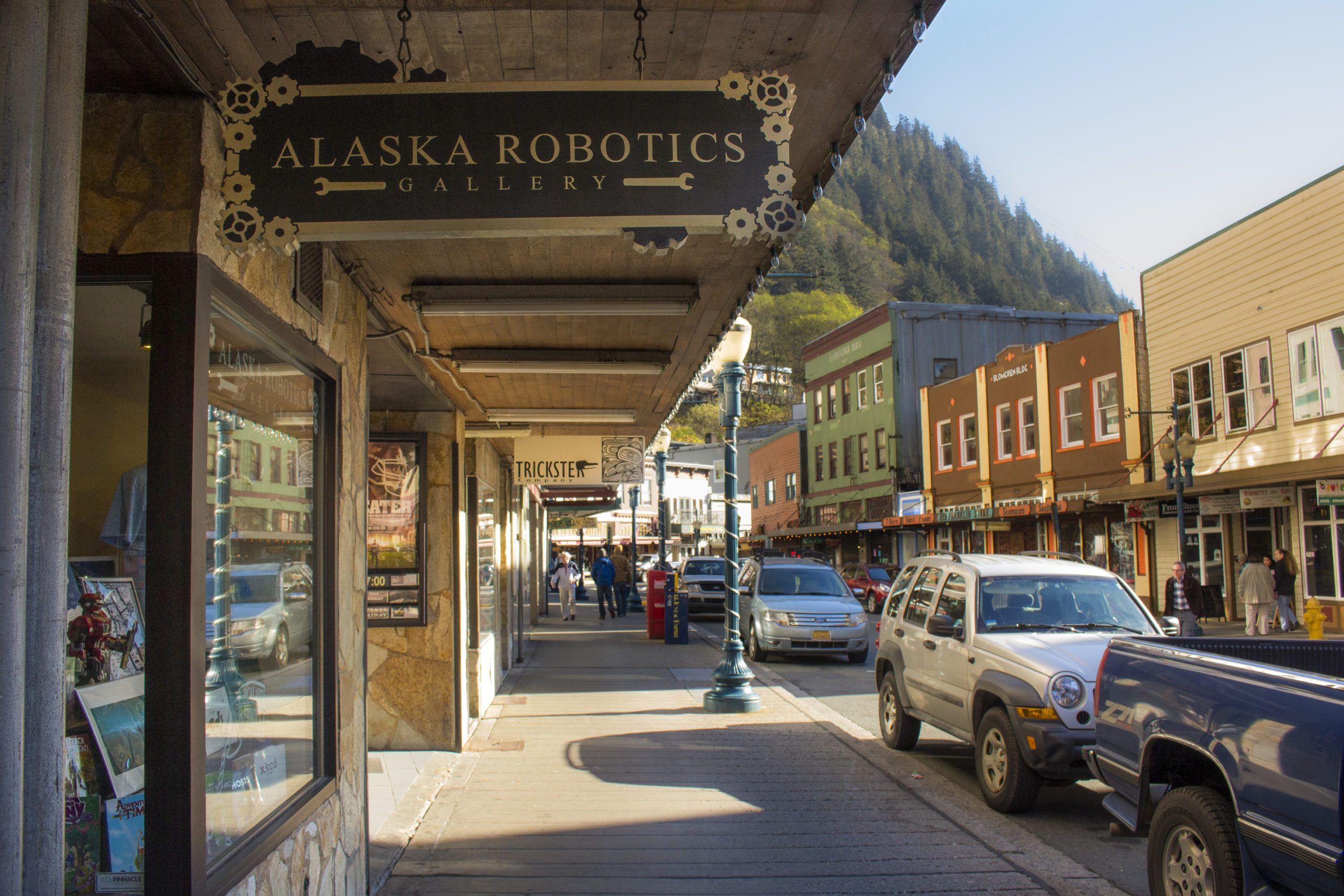 South Franklin Street is the main tourism and historic district of Juneau.